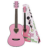 Candy Rox 3/4 Pink Heart Guitar Package Pink