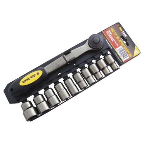 Am-Tech 11 Piece 1/2 Drive Black Nickel Socket Set