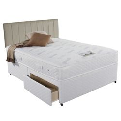 Simmons Rochester 800 Double Divan Bed 2 Drawer Divan Bed