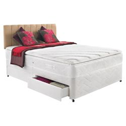 Silentnight Miracoil 3-Zone Supreme Tennessee Double 4 Drawer Divan Bed