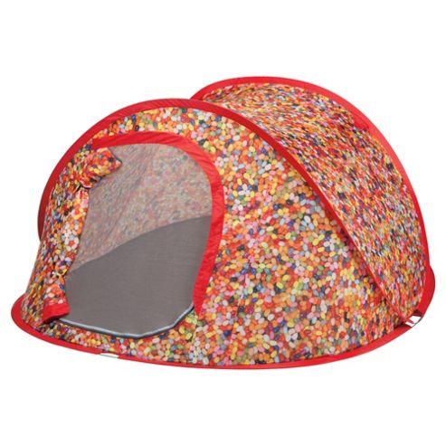 Tesco 2-Man Pop-Up Tent, Jelly Bean