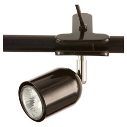 Tesco Lighting clip-on desk lamp black