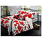 Tesco Painterly Floral Print Duvet Set - Cherry