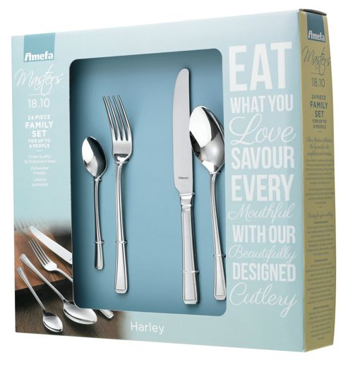 Amefa Monogram Harley 24 piece, 6 Person Cutlery Set