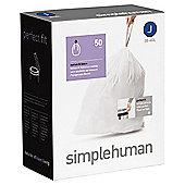 simplehuman Code J Drawstring Bin Liners, 50 pack