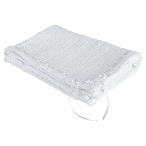 Clair de lune Ribbon Blanket, White