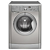 Indesit IWDD7123S Freestanding Washer Dryer, 7Kg Wash Load, B Energy Rating, Silver