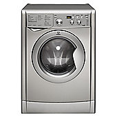 Indesit IWDD7123S Washer Dryer, 7Kg Wash Load, 1200 RPM Spin, B Energy Rating, Silver