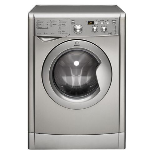 Indesit IWDD 7123 S Washer Dryer, 7kg Wash Load, 1200 RPM Spin, B Energy Rating. Silver