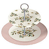 Katie Alice Cottage Flowers 2 Tier Cake Stand