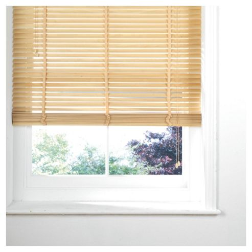 Wood Venetian Blind 90Cm 35Mm Slats 210Cm Drop, Natural
