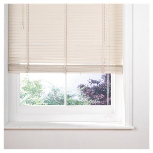 Sunflex Wood Venetian Blind W150 x Drop 160cm, 35mm Slats, Cream