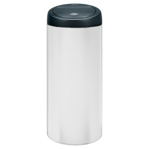 Brabantia 30L white touch bin with black lid