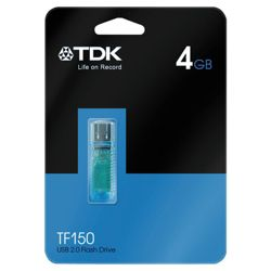 TDK C-TRU TF150 USB Flash drive, Blue - 4GB