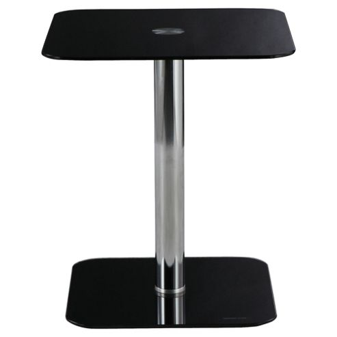 Atom Pedestal Side Table, Black