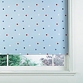 Kids Polka Dot Blind 180Cm, Blue