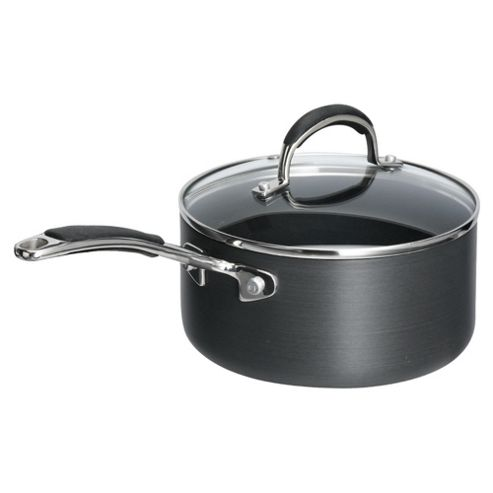 Go Cook 18cm Hard Anodised Saucepan with Lid