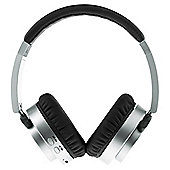 GROOV-E Bluetooth Overhead Headphone with Mic & 3.5mm Line In Silver