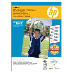 HP A4 210 x 297 mm Advanced Glossy Photo Paper - 25 Sheets