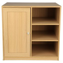Fraser Modular 1 Door Cupboard With Shelving, Oak Effect