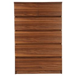 Maddox 6 Drawer Chest, Walnut Veneer