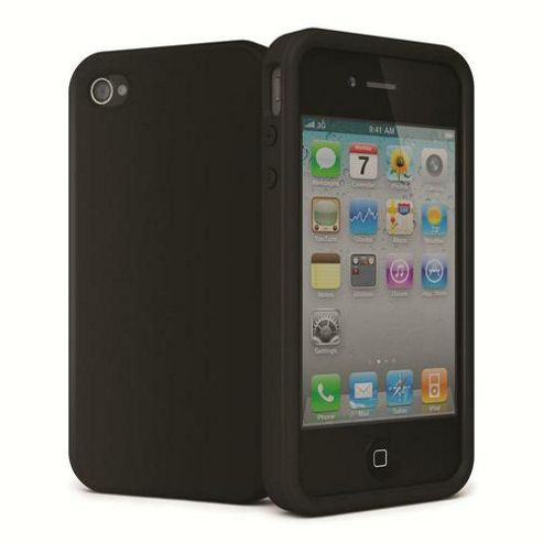 Cygnett Secondskin II Silicone Case for Iphone 4/ 4S - Black
