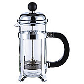 Tesco 8 Cup Banded Chrome Steel cafetiere