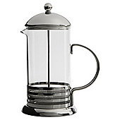 Tesco 8 Cup Banded Stainless Steel cafetiere