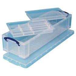 Really Useful Boxes 22L storage box with tray
