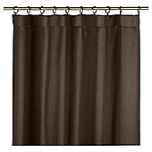 Plain Canvas Lined Pencil Pleat Curtains - Chocolate
