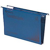 Rexel Crystalfile Classic Suspension File Manilla 30mm Foolscap Blue Ref 70625 [Pack 50]