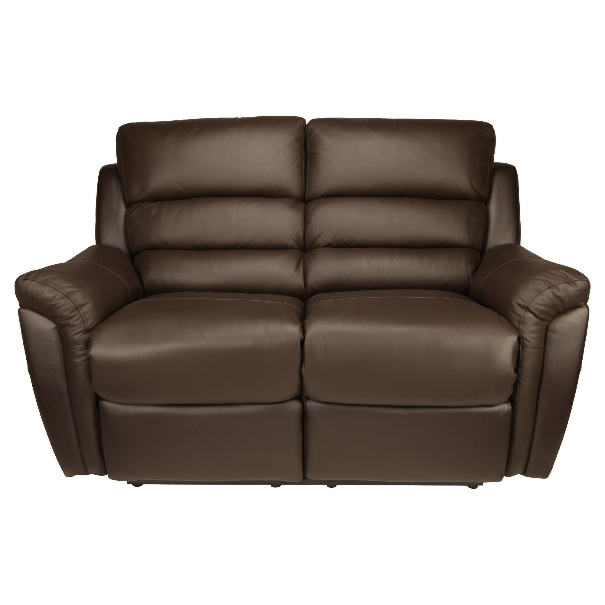 Chloe Small Recliner Sofa Leather, Brown at Tescos Direct