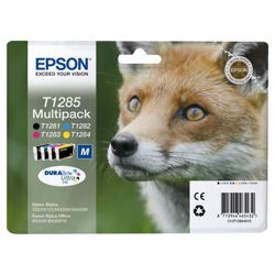 Epson T1285 Black & Colour Printer Ink Cartridge Multipack