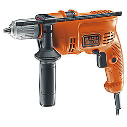 BLACK+DECKER 500W Corded Percussion Hammer Drill KR504CRESK