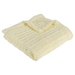Kids Line Cable Knit Blanket, Yellow