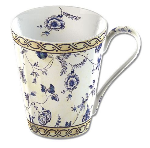 V&A Fine Bone China Mug In Gift Box - Georgian Trail