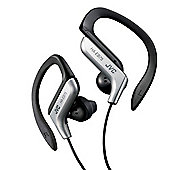 JVC Sports Ear-hook Earphones with Adjustable Clip - Silver