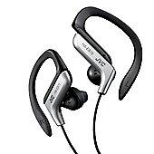 JVC Sports Ear-hook Earphones with Adjustable Clip - Silver