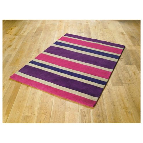 Tesco Rugs Stripe Rug Plum 120X170Cm