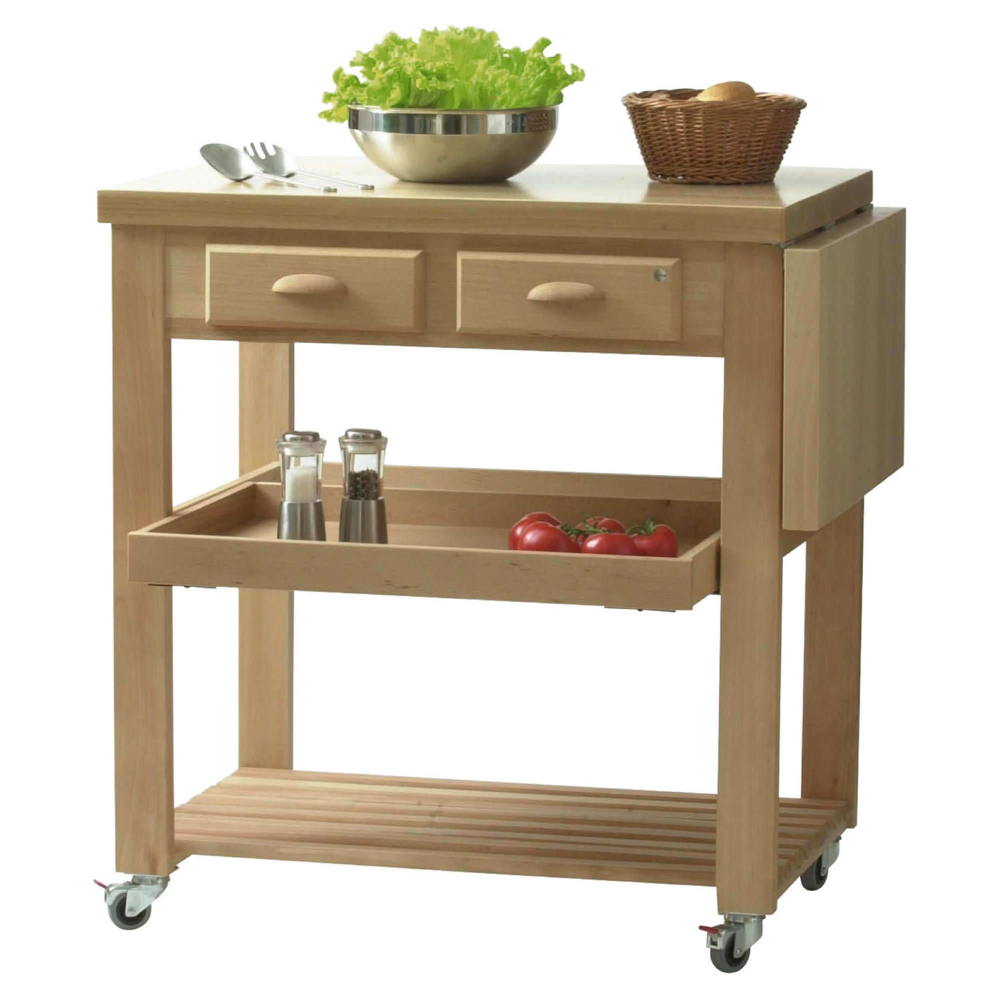 Eddingtons Burbage Beech Kitchen Trolley at Tesco Direct