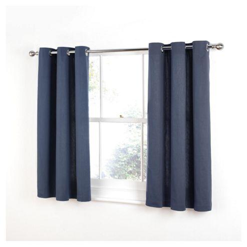 Tesco Plain canvas Unlined Eyelet Curtains W168xL137cm (66x54