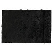 Tesco Rugs Luxurious Shaggy 150X240Cm Black