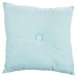 Tesco Velvet Cushion-Aqua