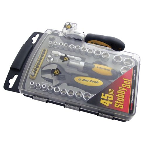 Am-Tech 45 Piece Stubby Socket & Tool Set