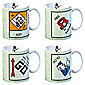 Monopoly Set of 4 Mugs