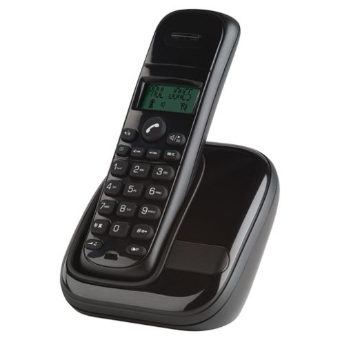Tesco AWB001 Single Cordless Telephone , Black