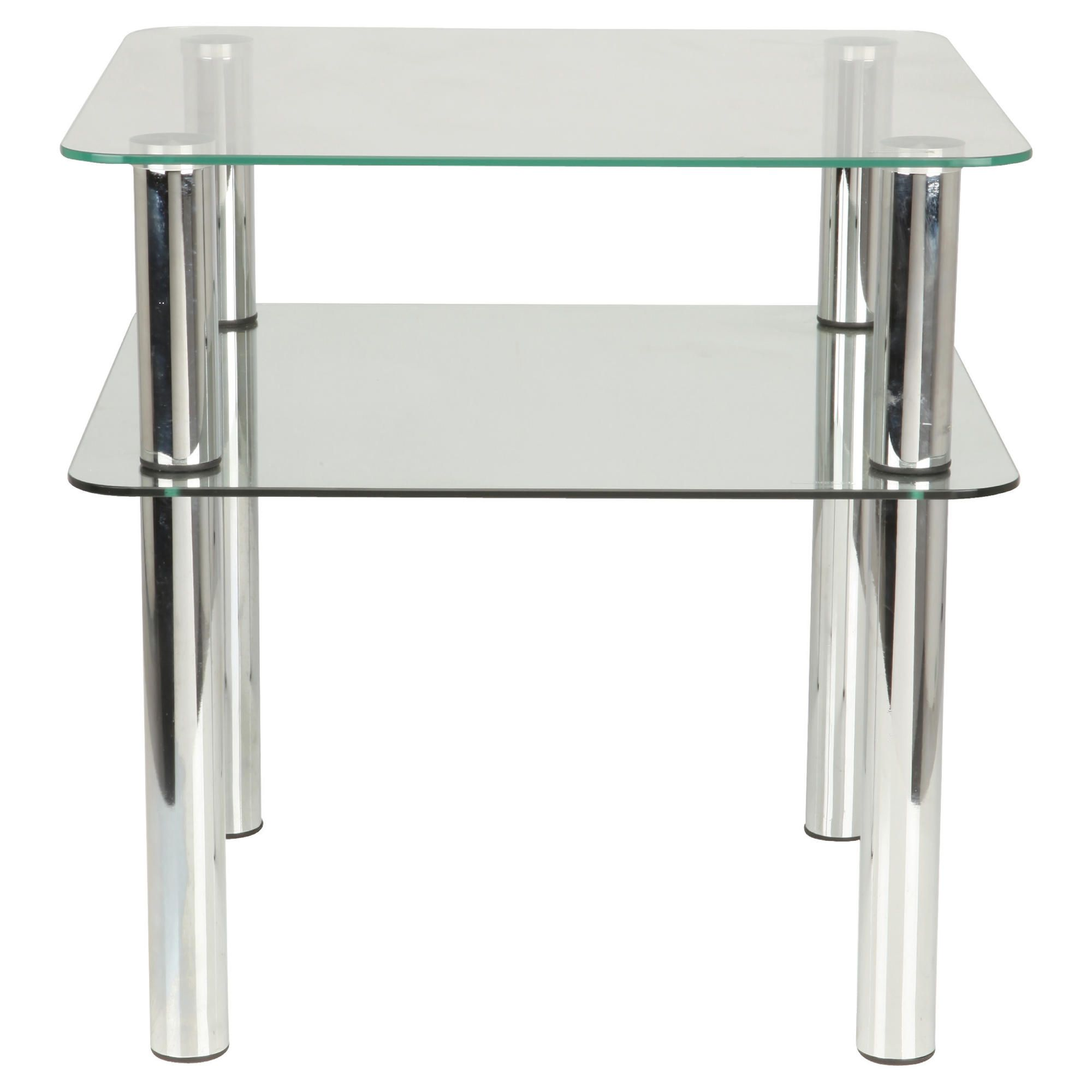 Home And Garden Furniture Caravelle Black Glass Coffee Table With Chrome Legs Special Offers
