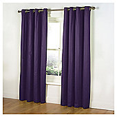 Tesco Plain Canvas Unlined Eyelet Curtains - Plum