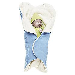 Wallaboo Fleece Wrapper, Soft Blue