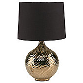 Tesco Lighting punched metal table lamp bronze..